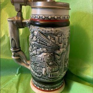 Vintage AVON handcrafted Stein made in Brazil 1982